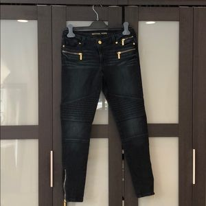 Michael KORS dark blue Moto skinny jeans